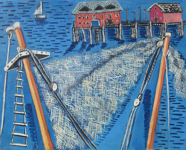 , 'Pier,' ca. 1934-35, Caldwell Gallery Hudson