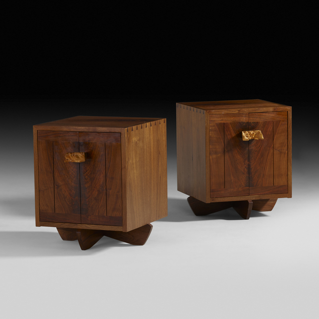 George Nakashima, 'Kornblut cabinets, pair', 1985, Rago
