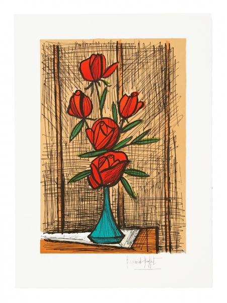 , 'Bouquet de cinq roses au vase bleu,' , Fairhead Fine Art Limited