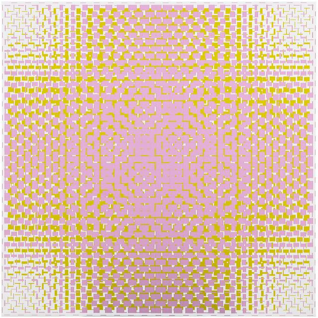 , 'pink-green,' 2018, Galerie Denise René