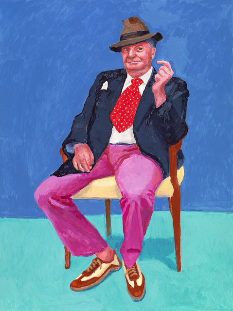 David Hockney, 'Barry Humphries, 26th, 27th, 28th March 2015', 2015, National Gallery of Victoria