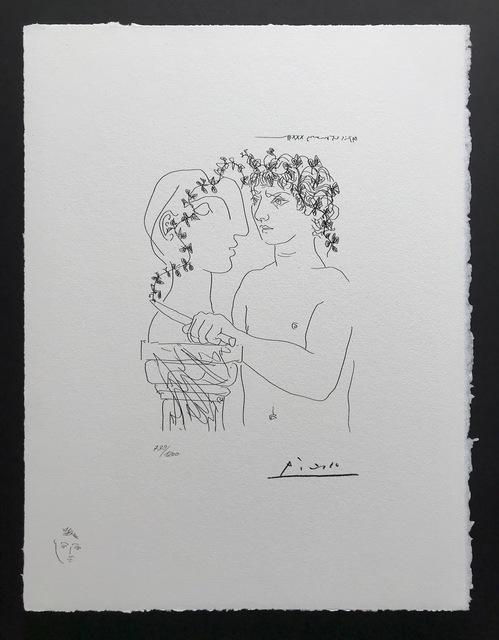 Pablo Picasso, 'Jeune sculpteur finissant un plâtre (Suite Vollard Planche XLVI)', 1973, ByNewArt