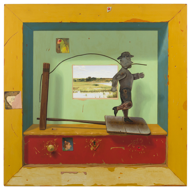 Ron Rizk, 'Levi Commission, 1999, trompe l'oeil with tin cowboy', John Moran Auctioneers