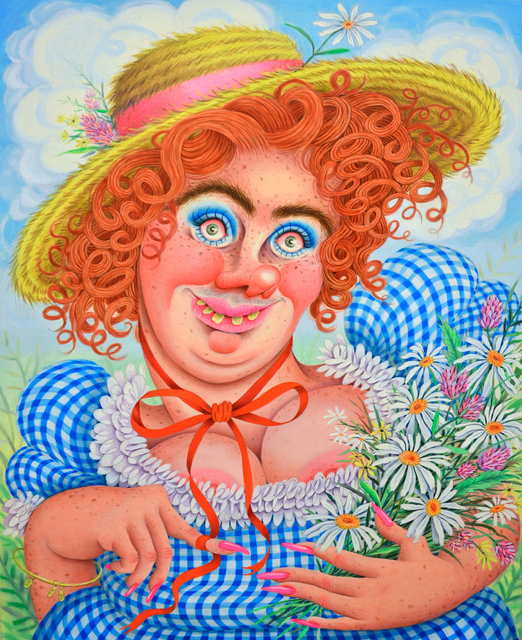 Rebecca Morgan, 'Sweet Gingham'd Daisy Picker', 2017, Asya Geisberg Gallery