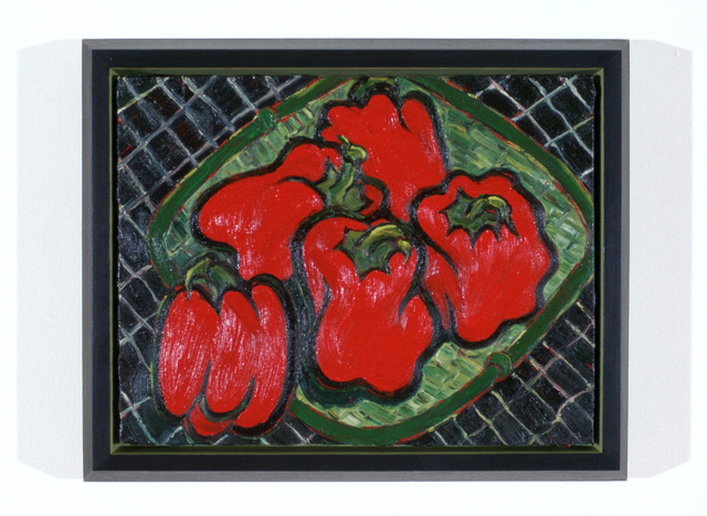 Helen Oji, 'Red Peppers', 1991, Painting, Oil on canvas, Estrada Fine Art