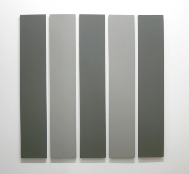 Alan Charlton, '5 Part Painting in 2 Greys', 2000, Annely Juda Fine Art