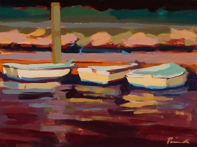 , 'Three at the Dock,' , LaMantia Fine Art Inc.