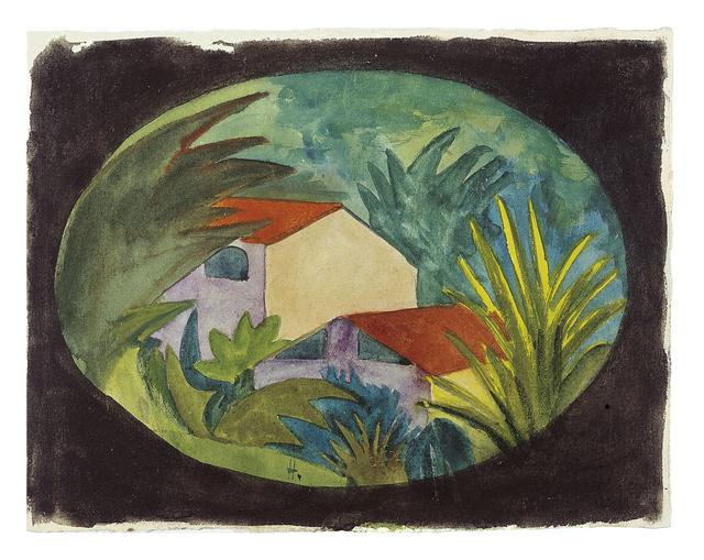 , 'Häuser im Tessin,' ca. 1920, Ludorff