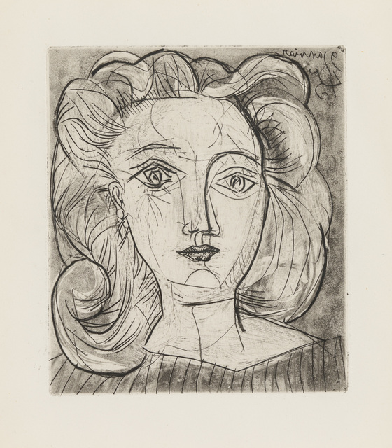 Pablo Picasso, 'Head of a Woman (Francoise)', 1945, Print, Etching and drypoint, Christopher-Clark Fine Art