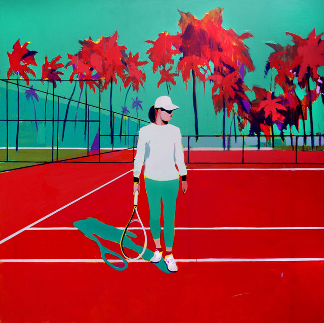 Patrick Puckett, 'Tennis Player', 2019, Wally Workman Gallery