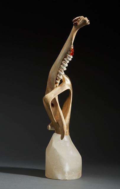 , 'Debra Baxter, Tooth & Nail, 2018, alabaster, buffalo jaw, citirine, brass ,' 2018 , form & concept