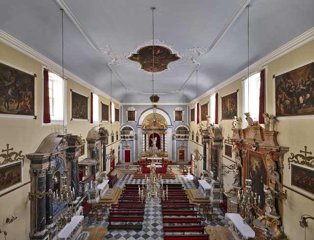 , 'Interior View of the Franciscan Church, Dubrovnik,' 2017, Museum of Modern Art Dubrovnik