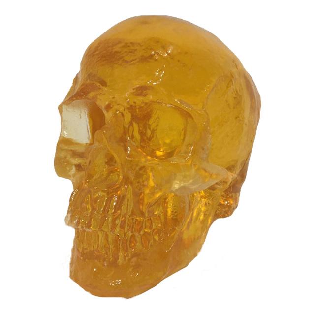 Sam Tufnell, 'Amber Skull', 2018, Sculpture, Resin and lighted pedestal, Marcel Katz Art