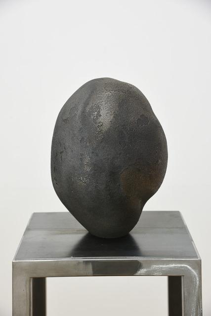 Mehdi-Georges Lahlou, 'Uncertain Black Stone 2', 2016, Sculpture, Glass, Transit