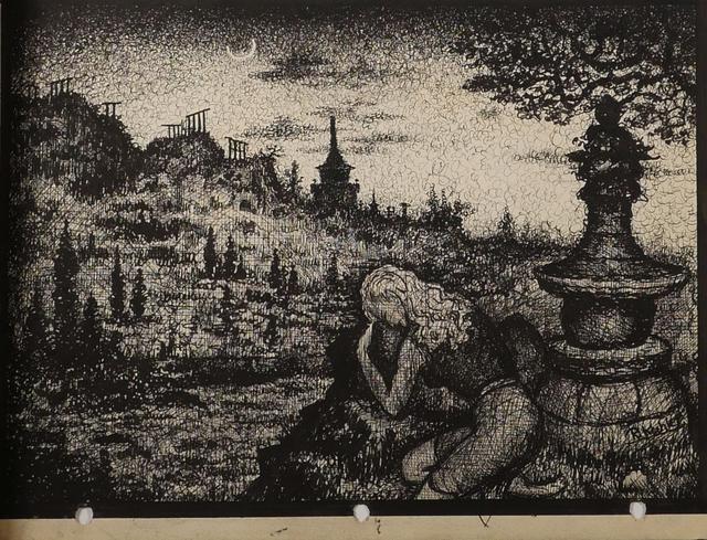 Renaldo Kuhler, 'Judith Gartland Mourning in Cemetery', ca. 1950, Ricco/Maresca Gallery