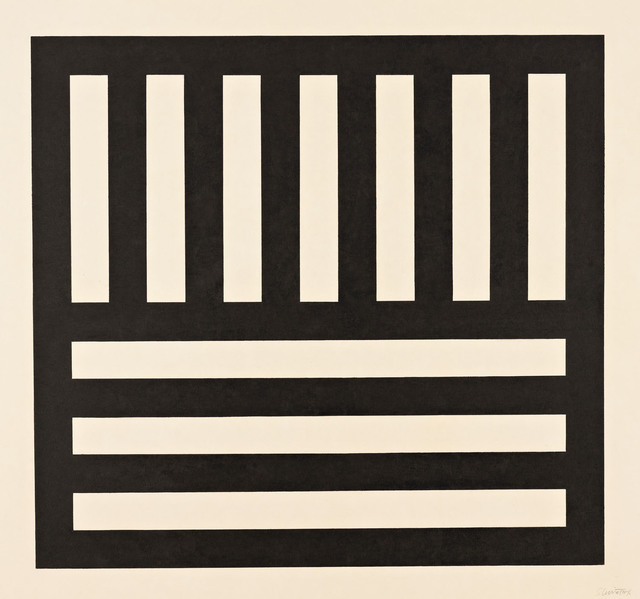 , 'Black Bands in Two Directions,' 1990, Pace Prints