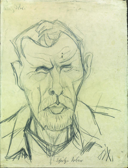 Otto Dix, 'Schutze Dober', 1916, Drawing, Collage or other Work on Paper, Graphite pencil on paper, Itineris