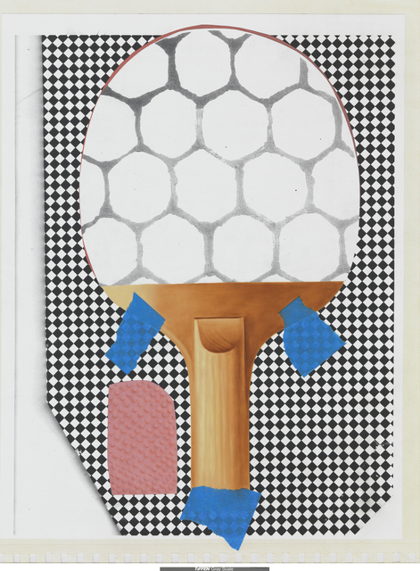 Meg Cranston, 'Ping Pong Paddle', 2014, Painting, Acrylic on canvas, Meliksetian | Briggs