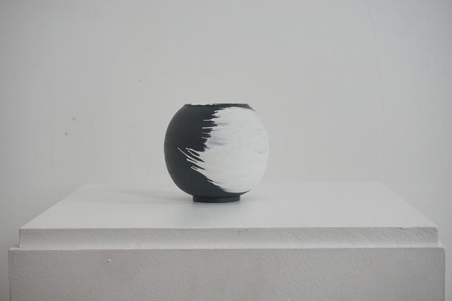 , 'Small black porcelain vessel,' 2018, Henry Saywell