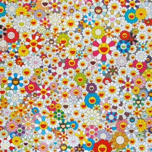 Takashi Murakami, 'Field of Smiling Flowers', 2010, Print, Offset lithograph with colours, on wove paper, Lougher Contemporary