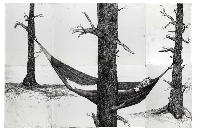 Daniel Heyman, 'Summer: Artist Sleeps', 2010, Cade Tompkins Projects
