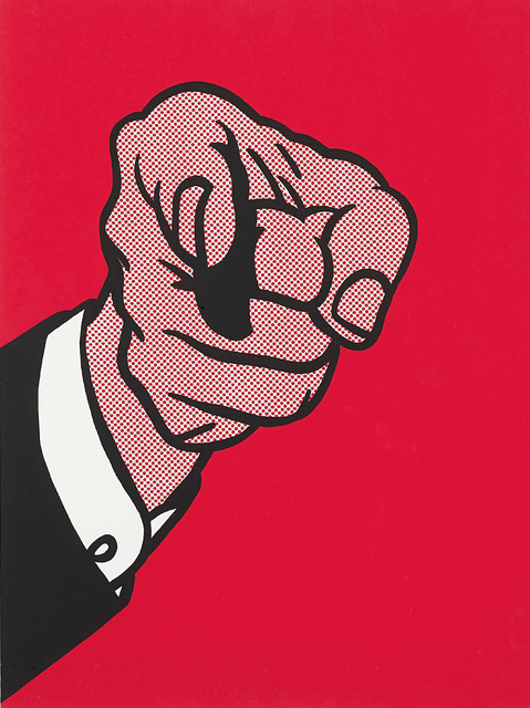 Roy Lichtenstein, 'Finger Pointing, from The New York Collection for Stockholm', 1973, Phillips