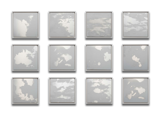 Miya Ando, '12 Months Clouds Grid', 2020, Painting, Ink on aluminum composite, Sundaram Tagore Gallery
