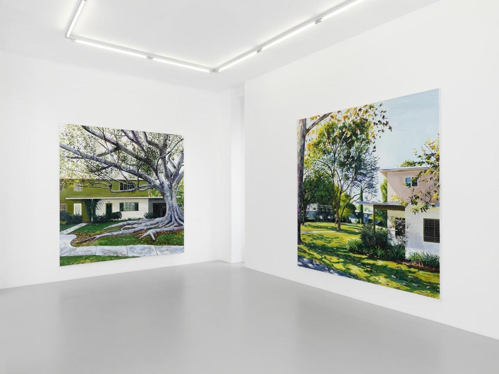 Yves Bélorgey, Baldwin Hills Village (Village Green), Galerie Xippas, Geneva, Switzerland, 2016. ©Annik Wetter