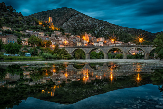 , 'Reflection of Roquebrun,' 2016, MvVO ART