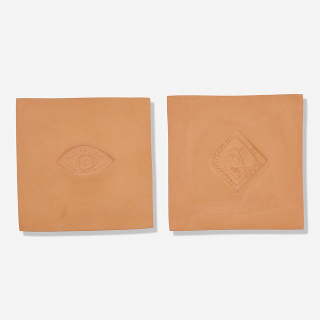 Pablo Picasso, 'Losange au Barbu and Ovale avec L'Oeil A tiles', 1971, Textile Arts, Earthenware, Rago/Wright