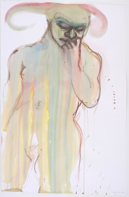 Simona Deflorin, 'ohne Titel', 2016, Drawing, Collage or other Work on Paper, Aquarell and ink on paper, Lakeside Gallery