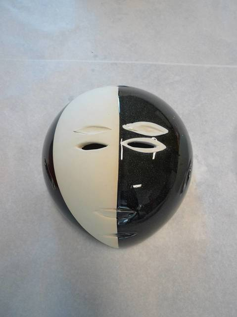 , 'Tao Magic, black/white mask,' 2016, Markus Lüttgen