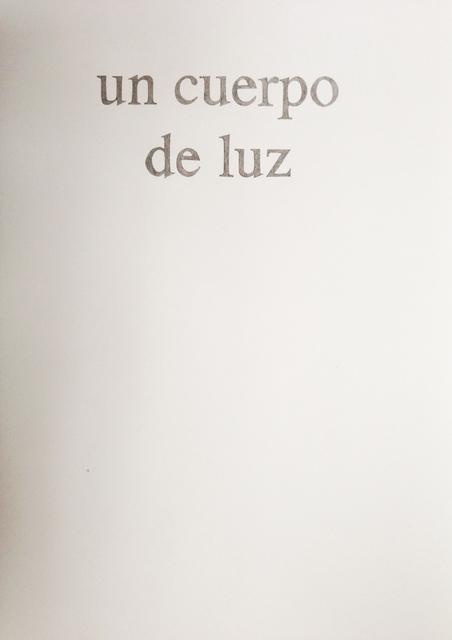 , 'Del poder de las palabras (un cuerpo de luz),' 2012, MARSO