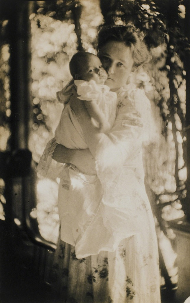 Gertrude O'Malley and Her Son Charles on the Porch