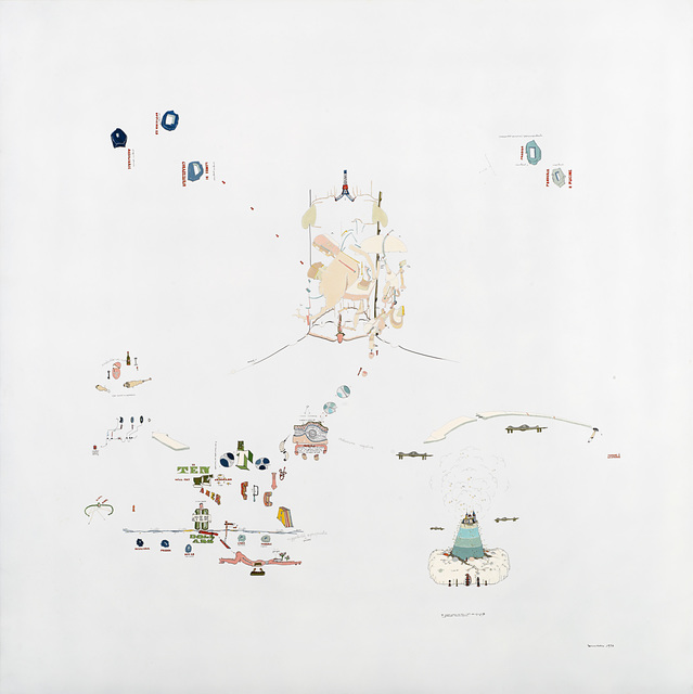 Gianfranco Baruchello, 'Md par l'oui dire 3: soggettività espropriata', 1973, Il Ponte