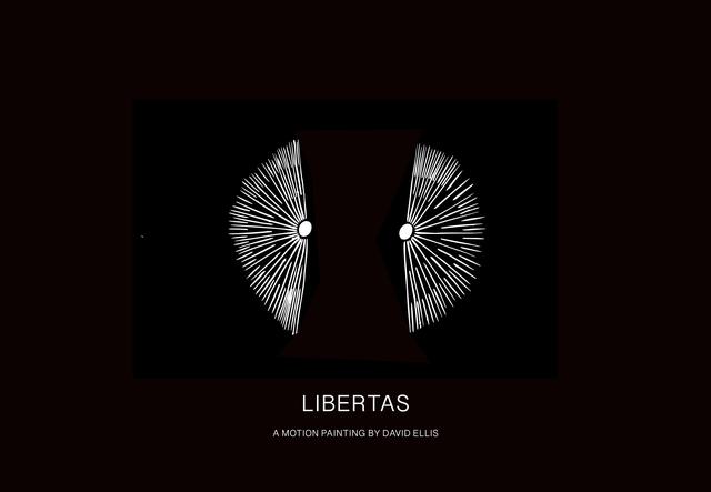 David Ellis, 'Libertas', 2019, Mixed Media, 5:00 min. duration motion painting and 6 Archival Pigment prints, Galeria de Babel