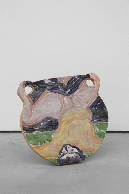 Christian Newby, 'BLURRED MACHINERY IDENTITY', 2016, Painting, Glazed ceramic, balsa wood stand, Patricia Fleming