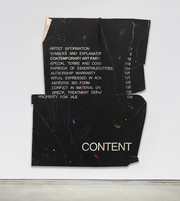 , 'CONTENT,' 2017, Bryce Wolkowitz Gallery