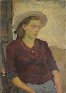 Valery Borisovich Skuridin, 'Portrait of a lady', 1947, Surikov Foundation