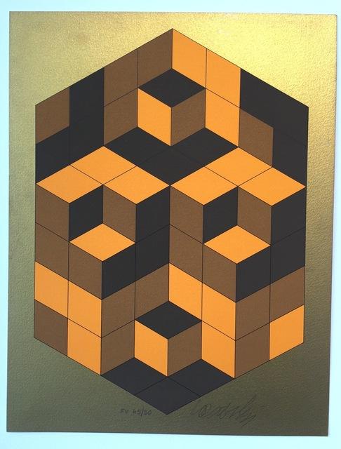 Victor Vasarely, 'Composition Gold', 1980, Gregg Shienbaum Fine Art