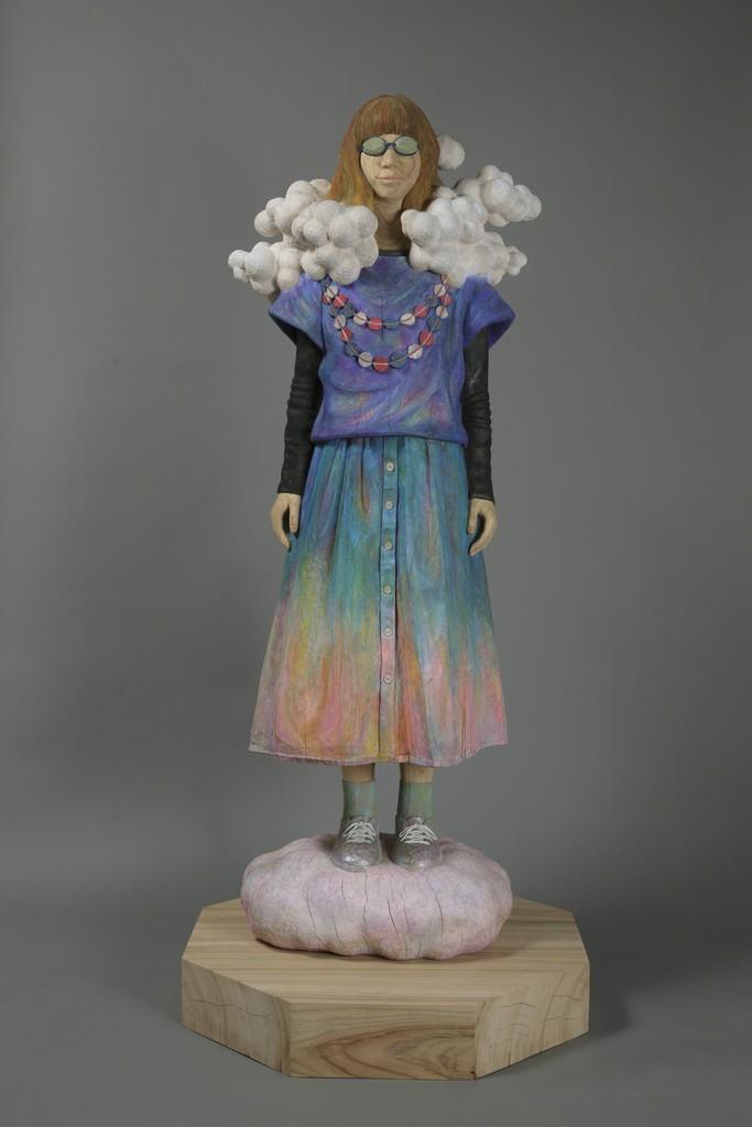 Kunihiko NOHARA Spring YEAR 2015 Sculpture Camphor tree 165 × 71 × 71 cm