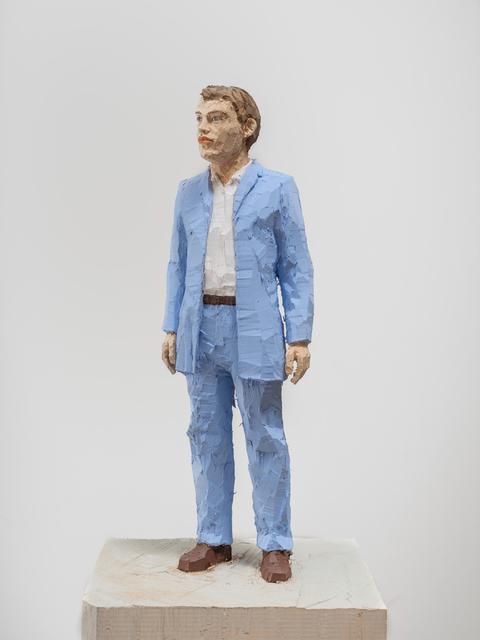Stephan Balkenhol, 'Man with Light Blue Shirt ', 2019, Galerie Forsblom
