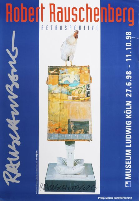 Robert Rauschenberg, 'Retrospective - Odalisque', 1998, Print, Offset lithographic poster in colours, Roseberys