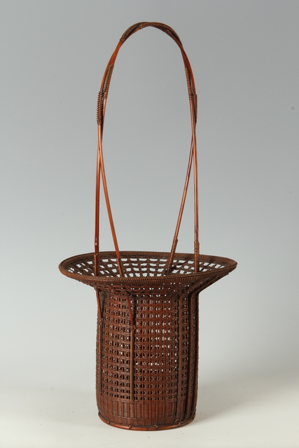 , 'Tall Handle Basket (T-3444),' Showa era (1926, 89), ca. 1950's, Erik Thomsen