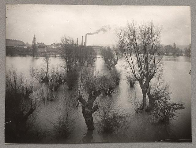 , 'Flooding of the Rhône at Gisors,' 1900-1914, Clark Art Institute