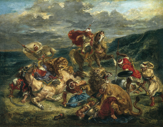 , 'Lion Hunt,' 1861, The National Gallery, London