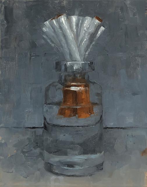 Tom Giesler, 'Floral 8: cigarette bloom', 2020, Painting, Oil on panel, McVarish Gallery