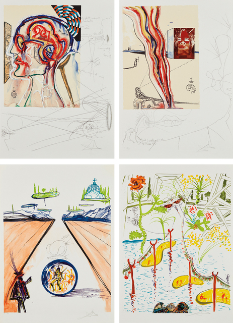 Salvador Dalí, 'Imaginations and Objects of the Future: four plates', 1975, Phillips