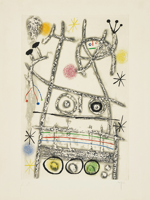 Joan Miró, 'Les Forestiers (gris) (The Foresters - Grey)', 1958, Phillips