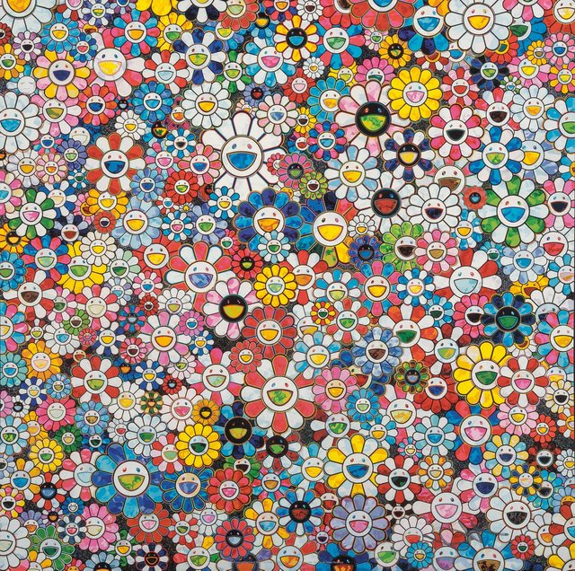 Takashi Murakami, 'The Future will Be Full of Smile! For Sure! and Flowers with Smiley Faces (two works)', 2013, Heritage Auctions